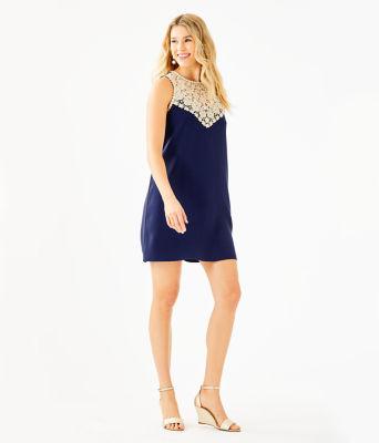 Nala Soft Shift Dress, True Navy, large 3