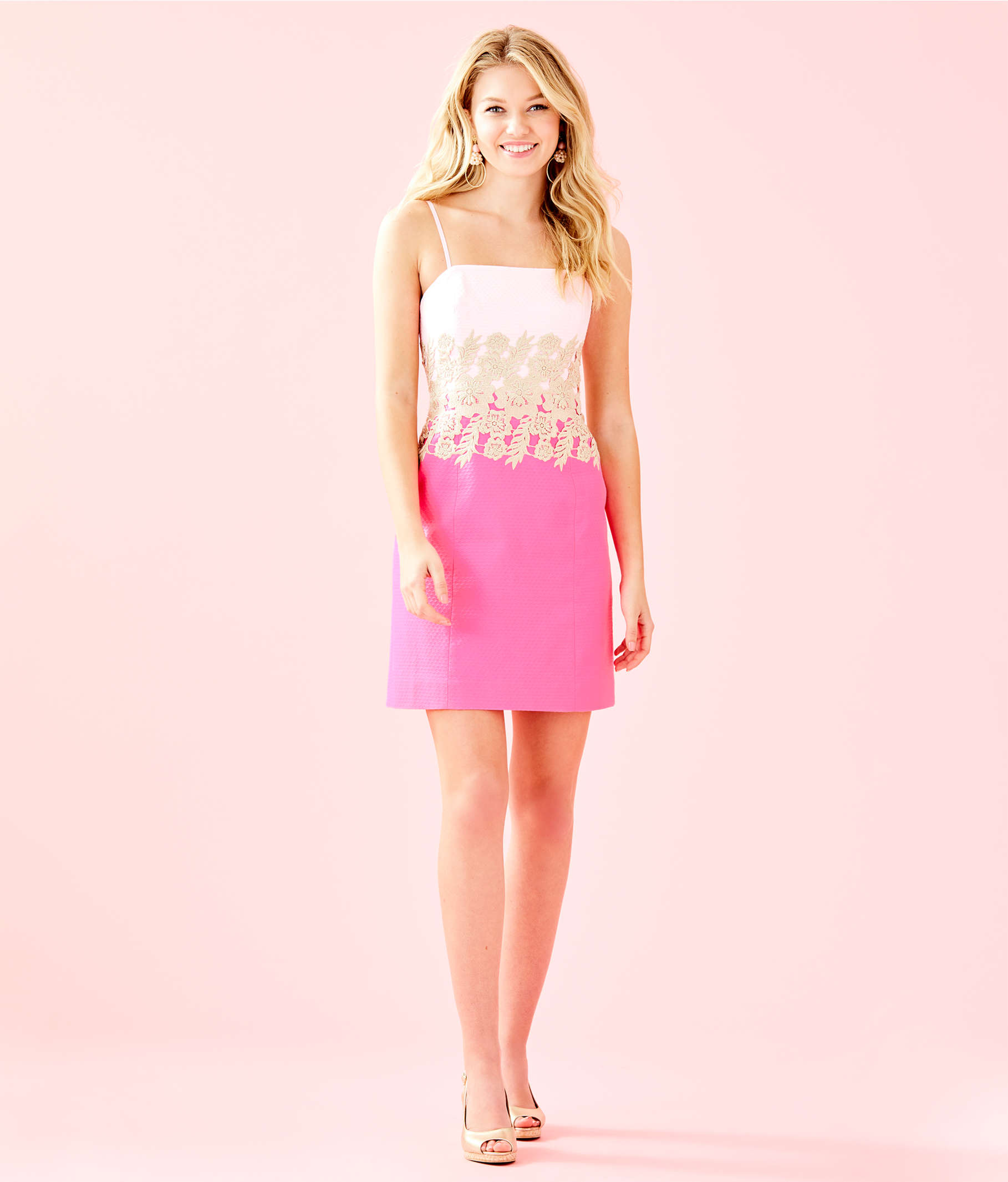 69e826d13b39af ... Kade Strapless Dress, Pink Tropics, large ...