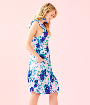 Rory Dress, Pink Tropics Tint Sweet Pea, large 2