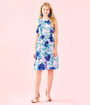 Rory Dress, Pink Tropics Tint Sweet Pea, large