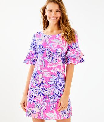 Lula Dress, Pink Tropics Sun Drenched, large 0