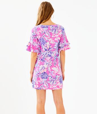Lula Dress, Pink Tropics Sun Drenched, large 1