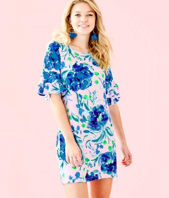 Lula Dress, Pink Tropics Tint Sweet Pea, large 0