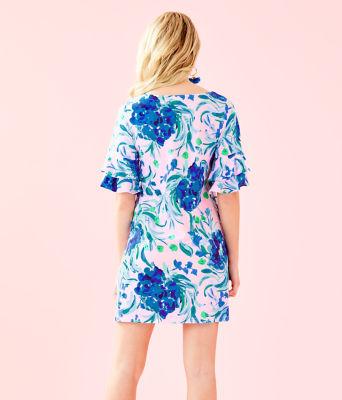 Lula Dress, Pink Tropics Tint Sweet Pea, large 1