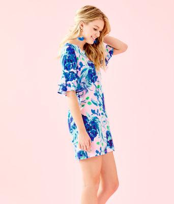 Lula Dress, Pink Tropics Tint Sweet Pea, large 2