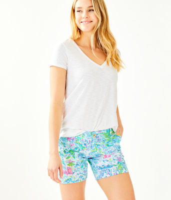 """7"""" Jayne Knit Short, Multi What A Lovely Place, large"""