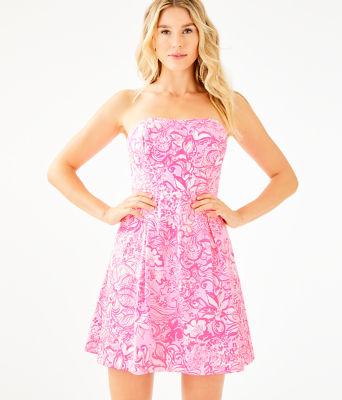 Blossom Dress, Pink Tropics Tint Bunny Hop, large