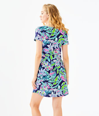 UPF 50+ Tammy Dress, Bright Navy Sway This Way, large 1