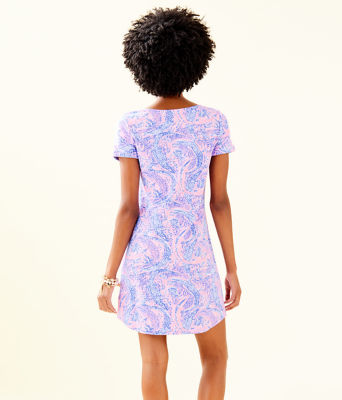 UPF 50+ Tammy Dress, Coastal Blue Maybe Gator, large 1