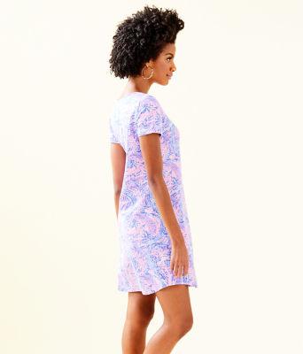 UPF 50+ Tammy Dress, Coastal Blue Maybe Gator, large 2