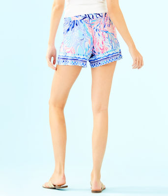 "5"" Katia Short, Crew Blue Tint Kaleidoscope Coral Engineered Short, large"