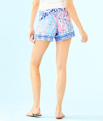 "5"" Katia Short, Crew Blue Tint Kaleidoscope Coral Engineered Short, large 1"