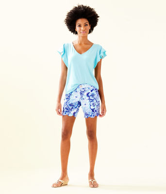 "7"" Darci Knit Short, Coastal Blue Catch N Keep Small, large 3"