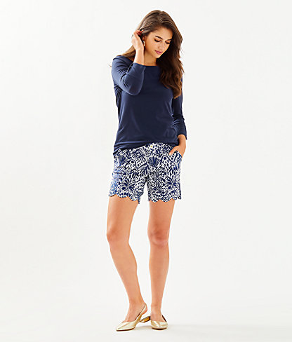 """7"""" Darci Knit Short, High Tide Navy By Land Or By Sea, large 3"""