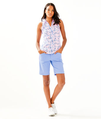 "UPF 50+ Luxletic 10"" Bettina Golf Short, Blue Peri, large 3"