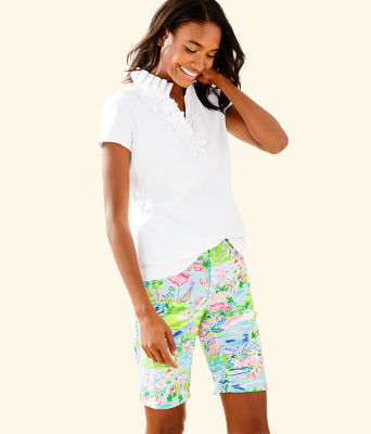 "UPF 50+ Luxletic 10"" Bettina Golf Short, Multi Honda Classic Toile, large"