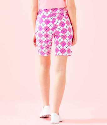 "UPF 50+ Luxletic 10"" Bettina Golf Short, Pink Tropics Glow And Flow Argyle, large 1"