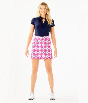 "17"" Monica Golf Skort - UPF 50+, Pink Tropics Glow And Flow Argyle, large 3"