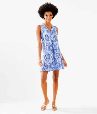 Amina Dress, Resort White Call My Shell Phone Engineered Amina Dre, large 3