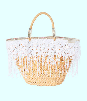 Ivy Straw Tote, Natural, large