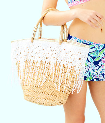 Ivy Straw Tote, Natural, large 2