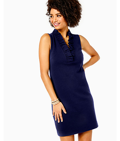 Tisbury Shift Dress, True Navy, large 0