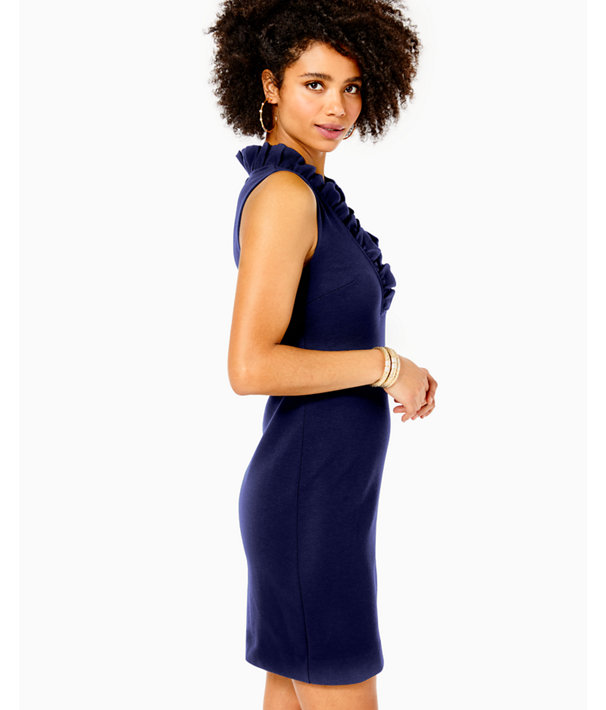 Tisbury Shift Dress, True Navy, large
