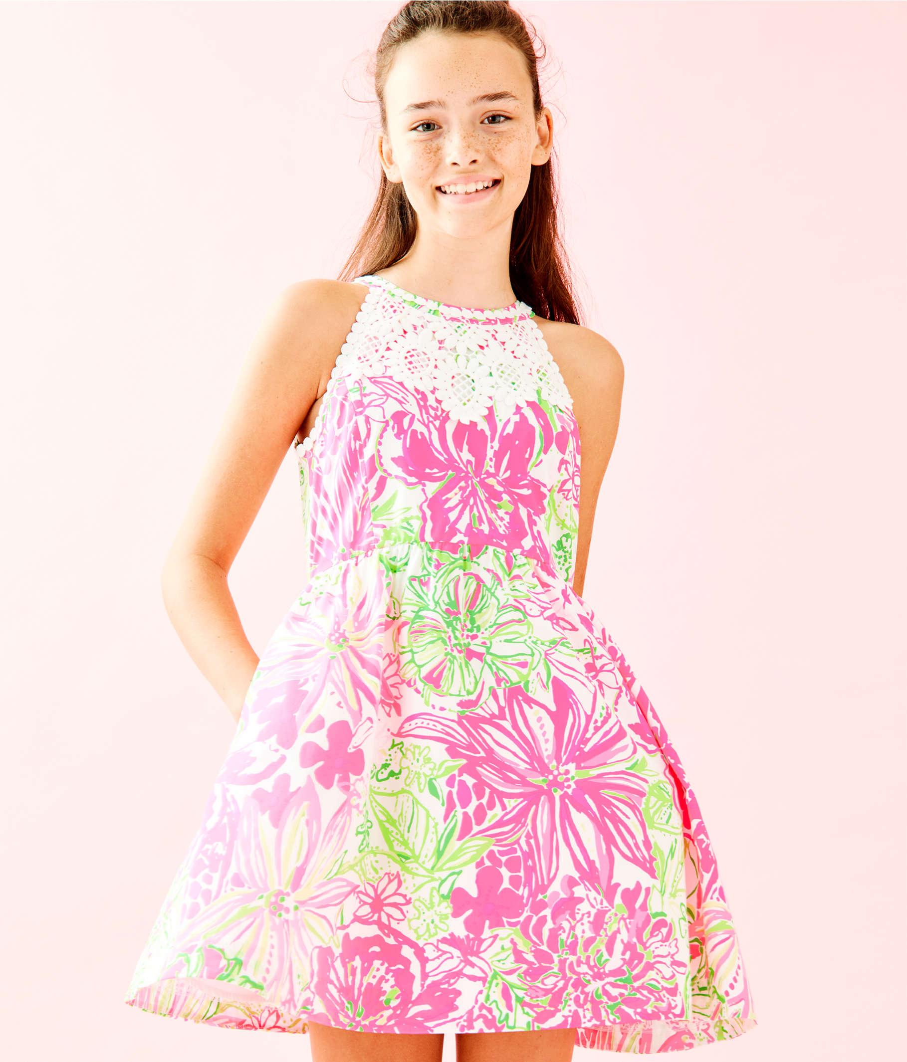 66d41f390521e2 ... Girls Little Kinley Dress, Resort White Koala Me Maybe, large ...