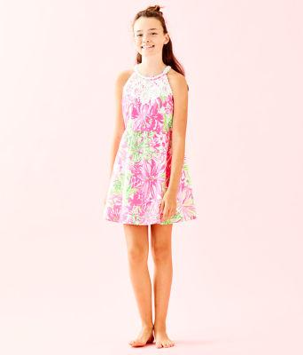 Girls Little Kinley Dress, Resort White Koala Me Maybe, large 3