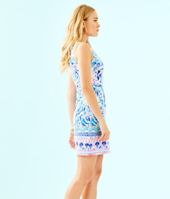 Gabby Shift Dress, Breakwater Tint Party Wave Engineered Shift, large