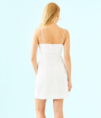 Liz Dress, Resort White Bubble Eyelet, large 1