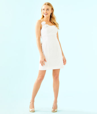 Liz Dress, Resort White Bubble Eyelet, large 3