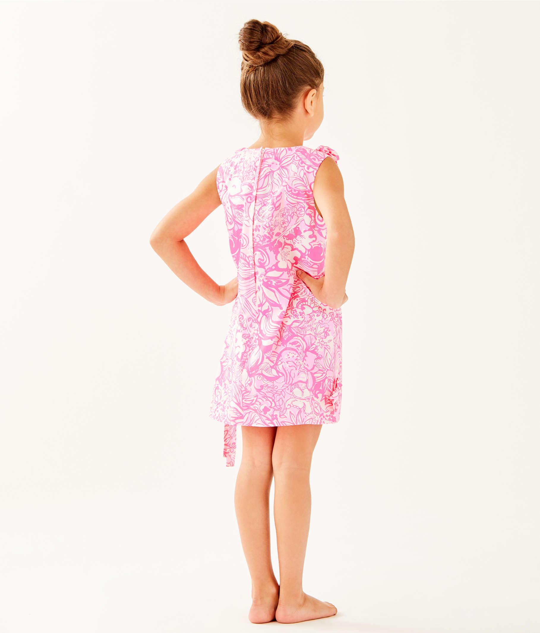facb53939 Girls Little Lilly Classic Shift Dress, Pink Tropics Tint Bunny Hop, large  ...