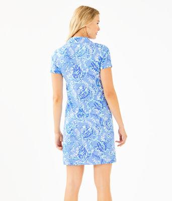 UPF 50+ Sadie Polo Dress, Blue Peri Turtley Awesome Engineered Knit Dress, large 1