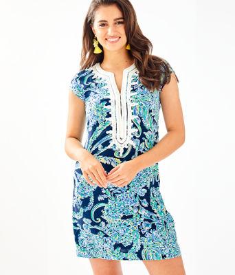 Madia Tunic Dress, High Tide Navy Scuba Doo, large 0