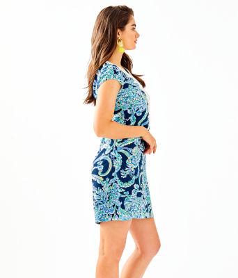 Madia Tunic Dress, High Tide Navy Scuba Doo, large