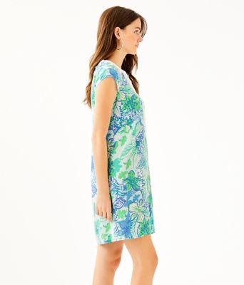 Madia Tunic Dress, Whisper Blue Boom Croc A Locca, large 2