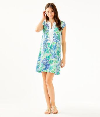 Madia Tunic Dress, Whisper Blue Boom Croc A Locca, large 3