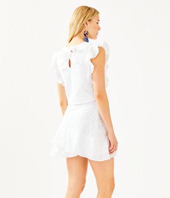 Alpinia Skirt Set, Resort White Fishy Eyelet, large