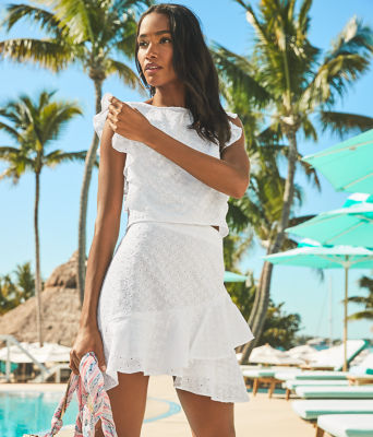 Alpinia Skirt Set, Resort White Fishy Eyelet, large 4