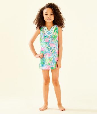 Girls Mini Harper Shift Dress, Multi Floridita, large