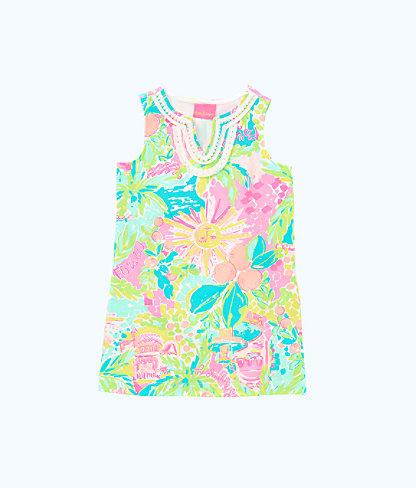 Girls Mini Harper Shift Dress, Multi Sunshine State Of Mind, large 0