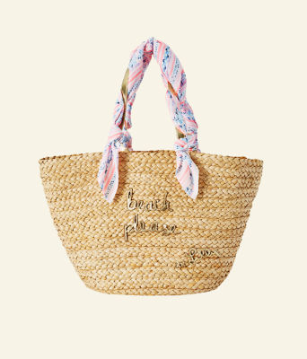 Playa Blanca Straw Tote, Natural, large 0