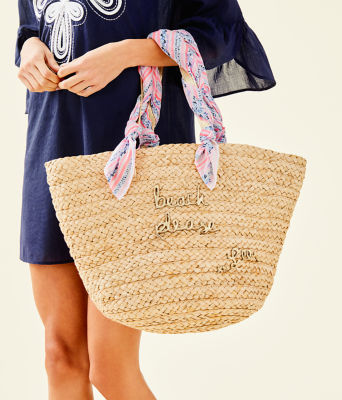 Playa Blanca Straw Tote, Natural, large