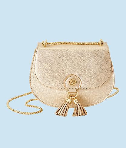 Sirena Crossbody Bag, Gold Metallic, large 0