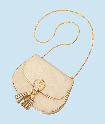 Sirena Crossbody Bag, Gold Metallic, large 2