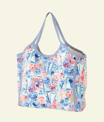 Veradero Tote, Crew Blue Tint Sea To Shining Sea, large