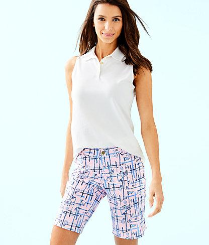 Luxletic Meredith Sleeveless Polo Top, Resort White, large 0