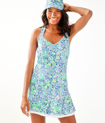 UPF 50+ Sean Tennis Dress, Blue Haven Biancas Love, large