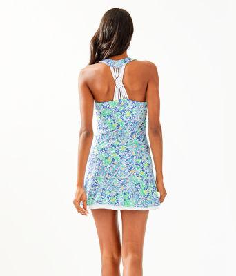 UPF 50+ Sean Tennis Dress, Blue Haven Biancas Love, large 1